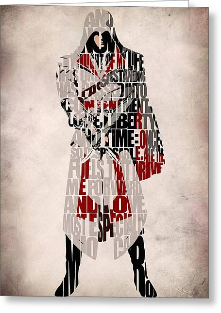Ezio - Assassin's Creed Brotherhood Greeting Card by Ayse Deniz