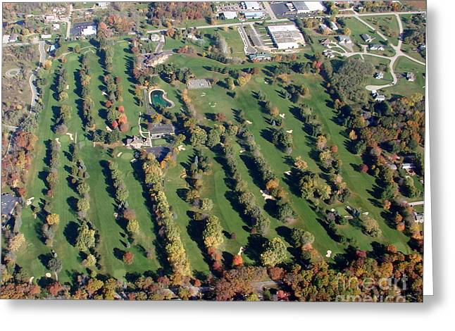 F-016 Far View Golf Course Fall Oshkosh Wi Greeting Card by Bill Lang