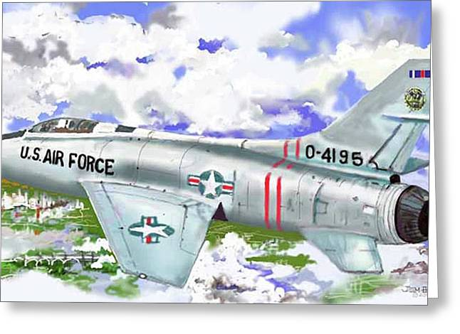 F-100 D Super Sabre Greeting Card