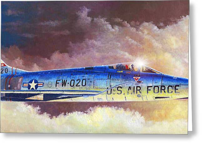 F-100d Super Sabre Greeting Card