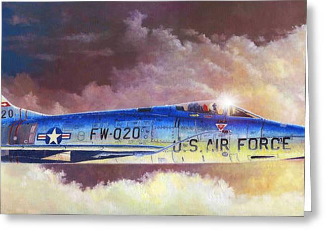 F-100d Super Sabre Greeting Card