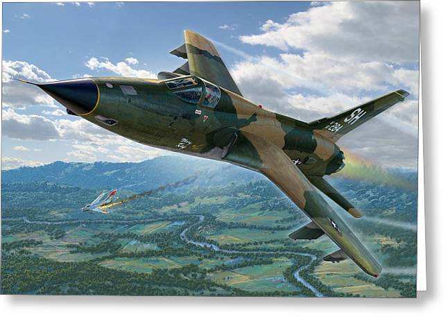F-105d Thunderchief Mary Kay Greeting Card by Stu Shepherd