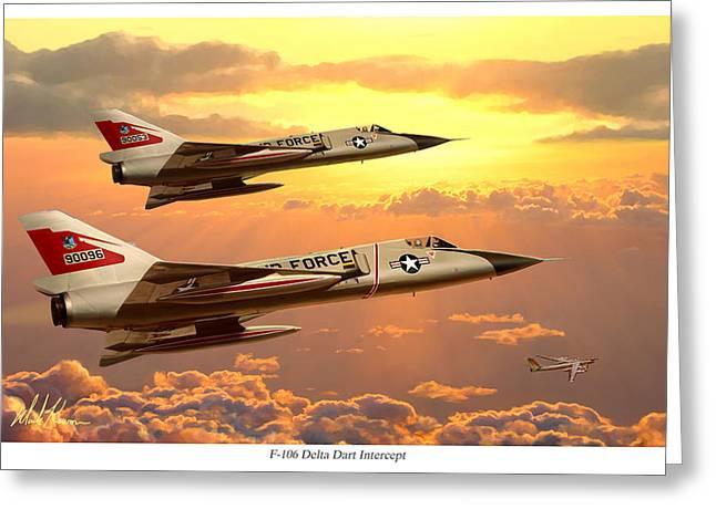 F-106 Delta Dart Intercept Greeting Card by Mark Karvon