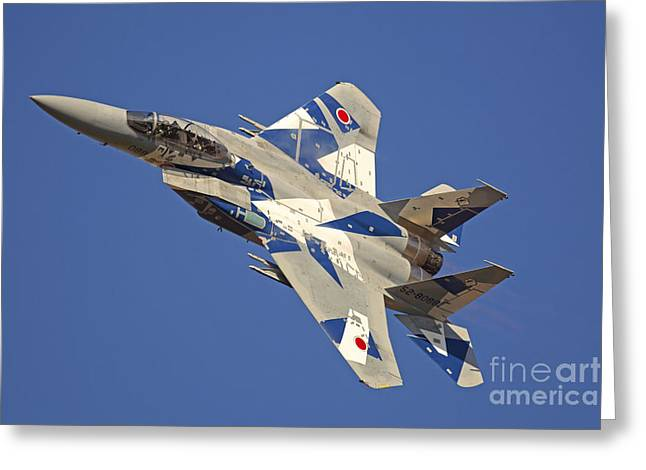 F-15dj Eagle Of The Japan Air Self Greeting Card