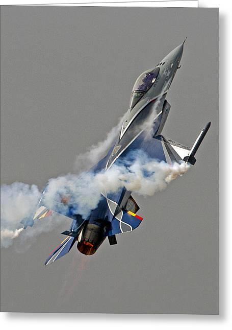 F-16a Mlu Greeting Card by Paul Scoullar
