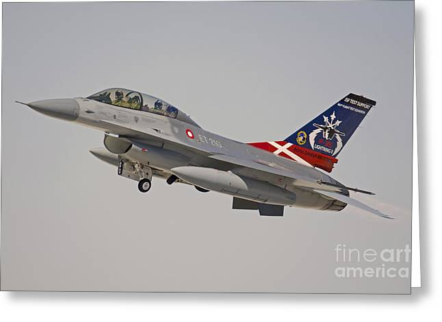 F-16b Fighting Falcon Of The Royal Greeting Card by Phil Wallick