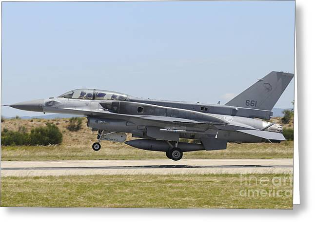 F-16d Falcon From The Republic Greeting Card