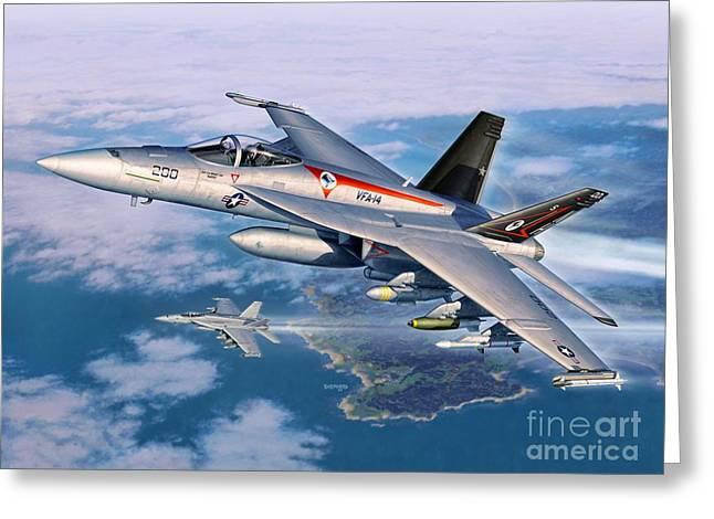 F-18e Super Hornet Greeting Card by Stu Shepherd