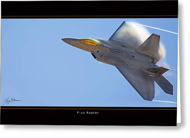 F-22 Raptor Greeting Card by Larry McManus