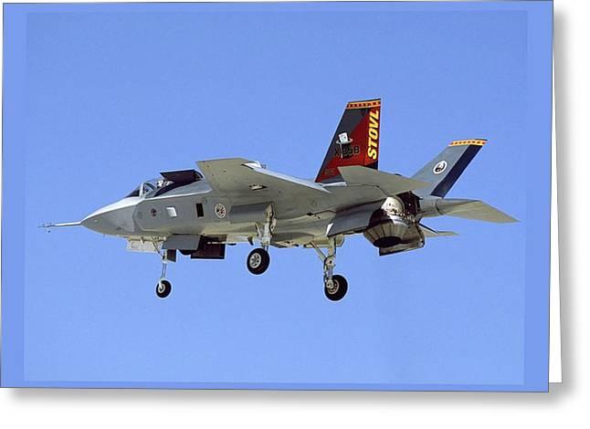 F-35 Short Take Off Vertical Landing Greeting Card