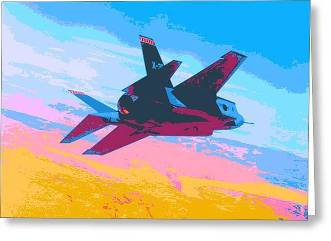 F 35 Strike Fighter Enhanced IIi Greeting Card