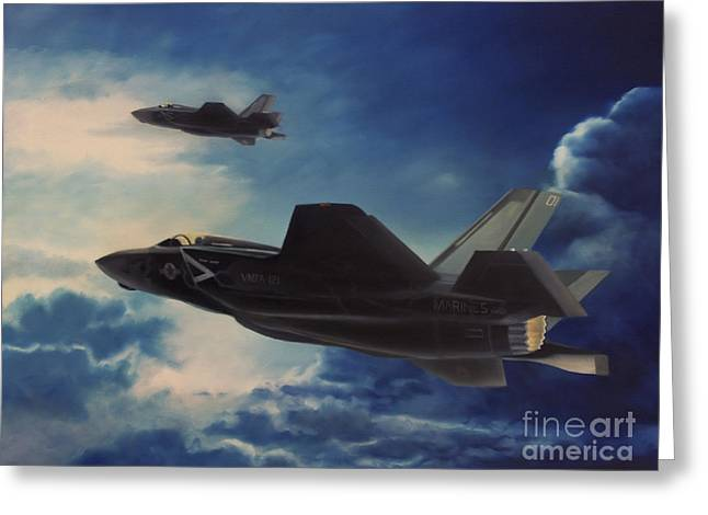 F-35b Lightening II Greeting Card by Stephen Roberson