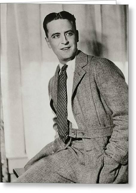 F Scott Fitzgerald Wearing A Norfolk-style Jacket Greeting Card by Artist Unknown