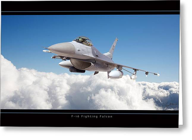F16 Fighting Falcon Greeting Card by Larry McManus