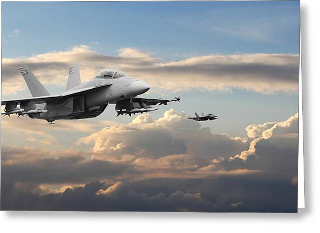 F18 - Super Hornet Greeting Card by Pat Speirs