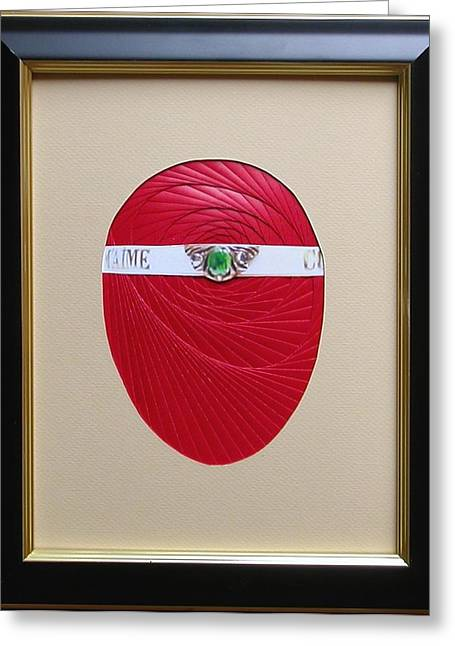 Greeting Card featuring the mixed media Faberge Egg 1 by Ron Davidson