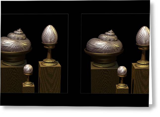 Faberge Style White Gold 3d Greeting Card by Hakon Soreide