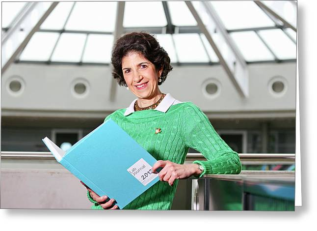 Fabiola Gianotti Greeting Card