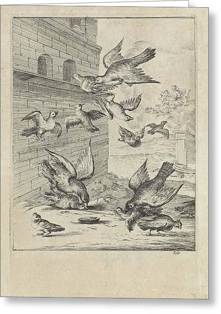 Fable Of The Doves And The Hawks, Dirk Stoop Greeting Card