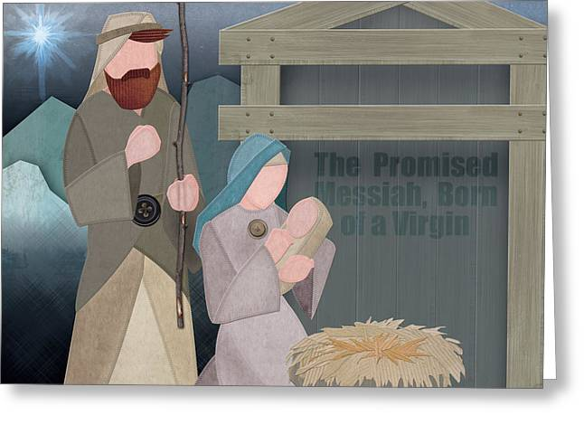 Fabric Nativity Greeting Card