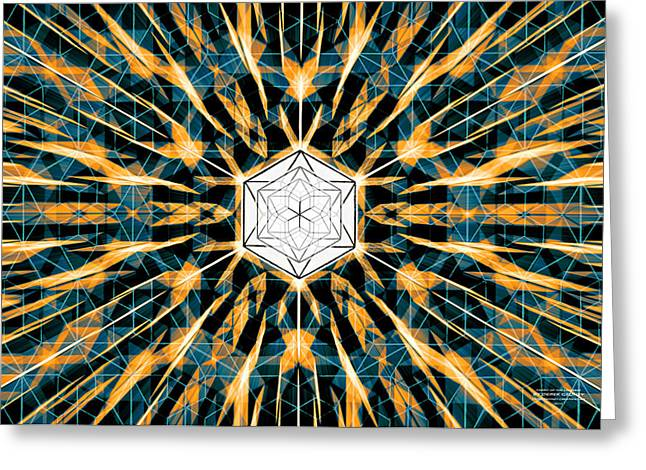 Greeting Card featuring the drawing Fabric Of The Universe by Derek Gedney