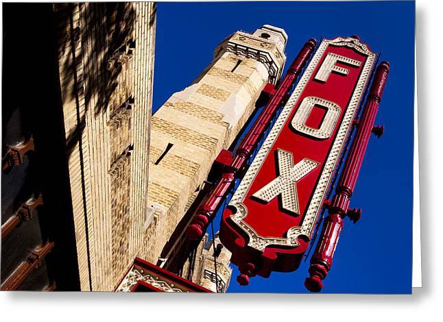 Greeting Card featuring the photograph Fabulous Fox In Atlanta by Mark E Tisdale