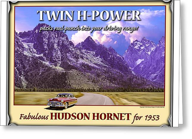 Greeting Card featuring the photograph Fabulous Hudson Hornet For 1953 by Ed Dooley