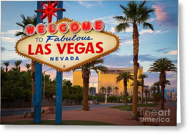 Fabulous Las Vegas Greeting Card by Inge Johnsson