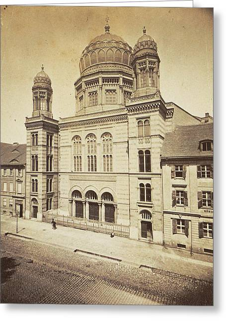 Facade And Dome Of The New Synagogue In Berlin Greeting Card by Artokoloro