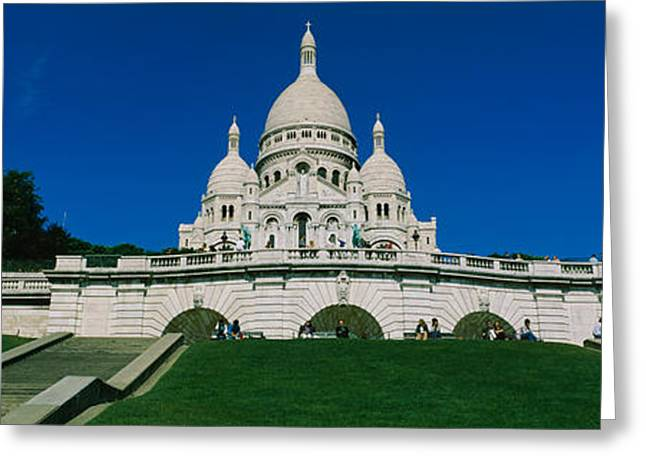 Facade Of A Basilica, Basilique Du Greeting Card by Panoramic Images