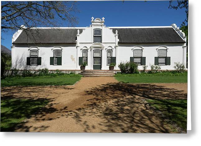 Facade Of A Building, Boschendal, Cape Greeting Card by Panoramic Images