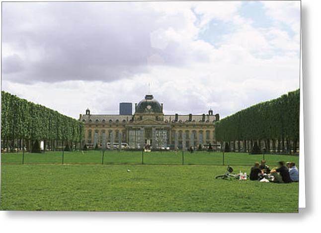 Facade Of A Building, Ecole Militaire Greeting Card by Panoramic Images
