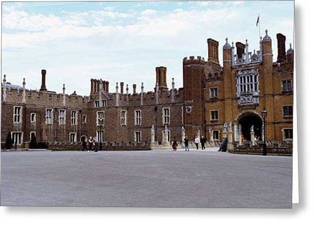 Facade Of A Building, Hampton Court Greeting Card by Panoramic Images