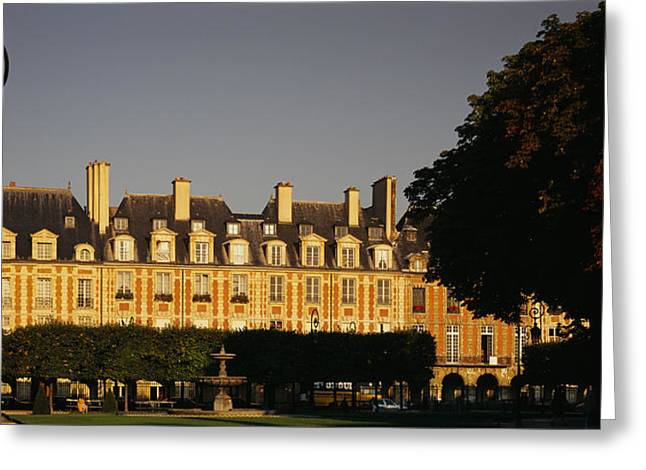 Facade Of A Building, Place Des Vosges Greeting Card by Panoramic Images