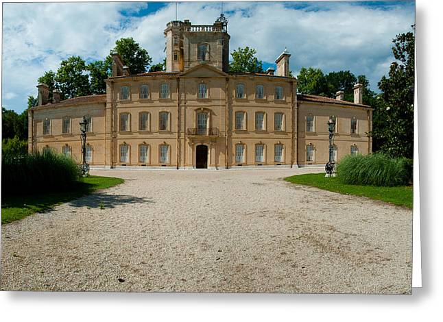 Facade Of A Castle, Chateau Davignon Greeting Card by Panoramic Images