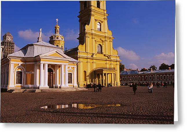 Facade Of A Cathedral, Peter And Paul Greeting Card by Panoramic Images