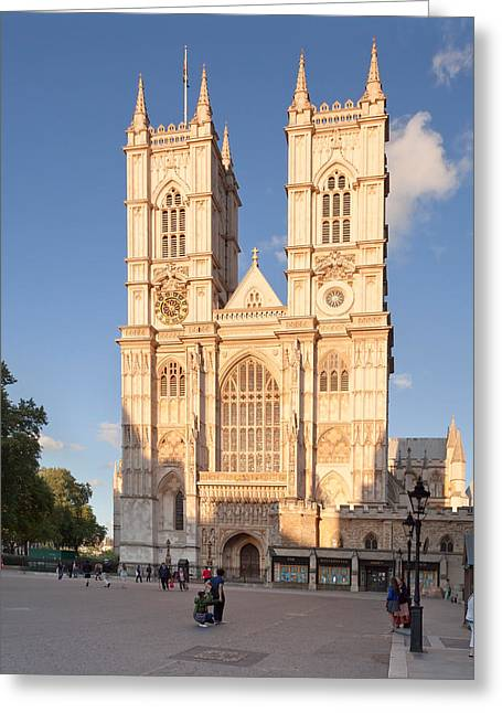 Facade Of A Cathedral, Westminster Greeting Card