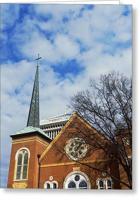 Facade Of A Church, River City Church Greeting Card by Panoramic Images
