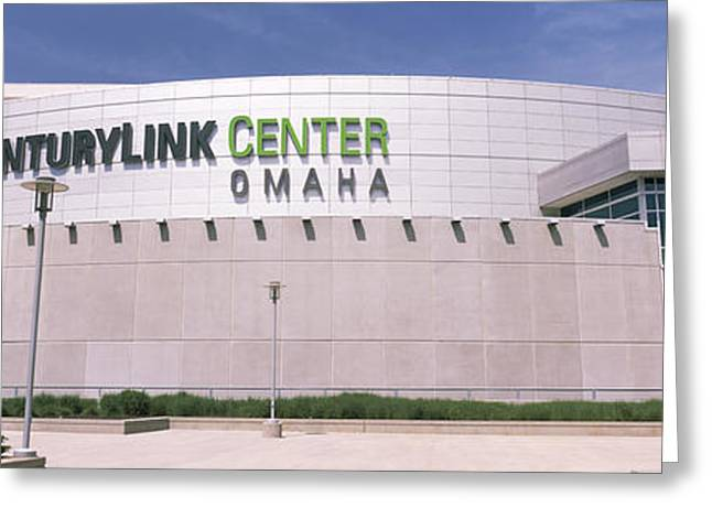 Facade Of A Convention Center, Century Greeting Card by Panoramic Images