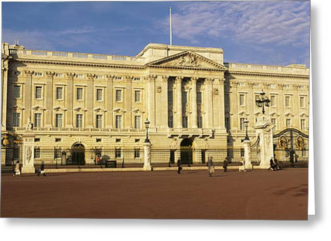 Facade Of A Palace, Buckingham Palace Greeting Card
