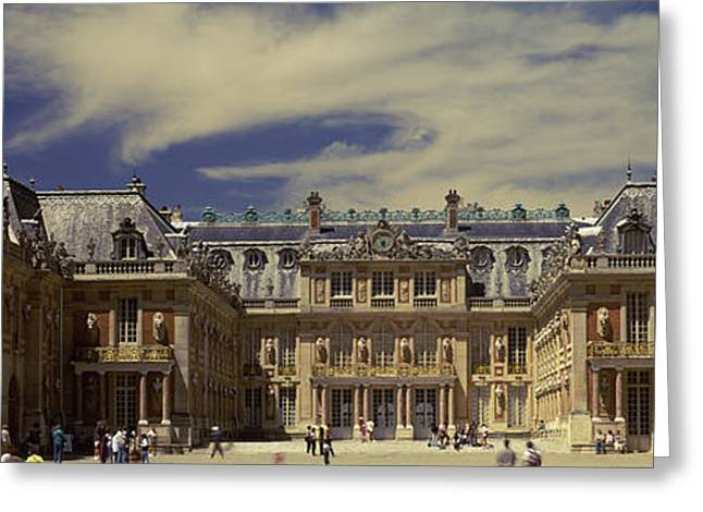 Facade Of A Palace, Chateau De Greeting Card