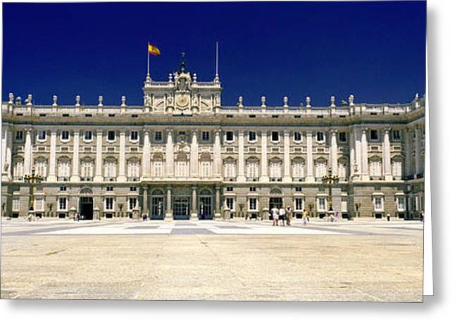 Facade Of A Palace, Madrid Royal Greeting Card