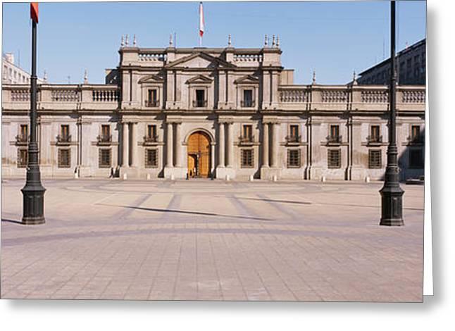 Facade Of A Palace, Plaza De La Moneda Greeting Card