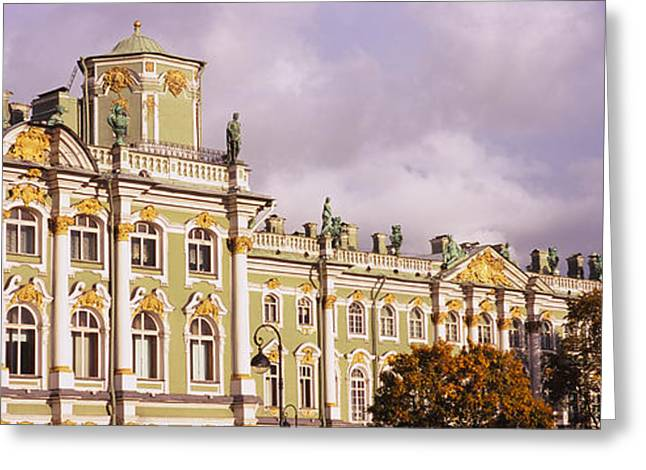 Facade Of A Palace, Winter Palace Greeting Card by Panoramic Images