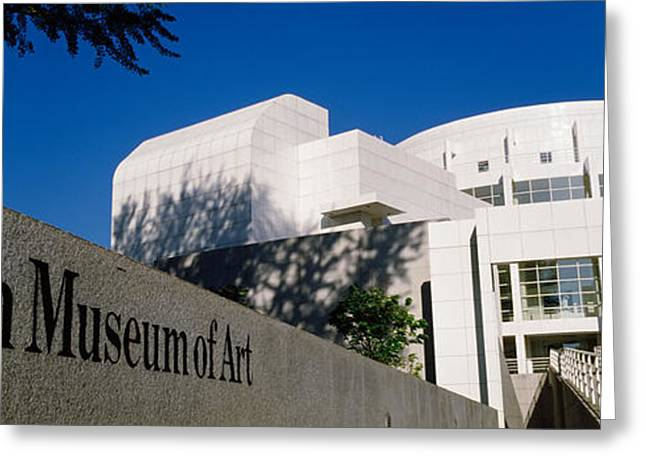 Facade Of An Art Museum, High Museum Greeting Card by Panoramic Images