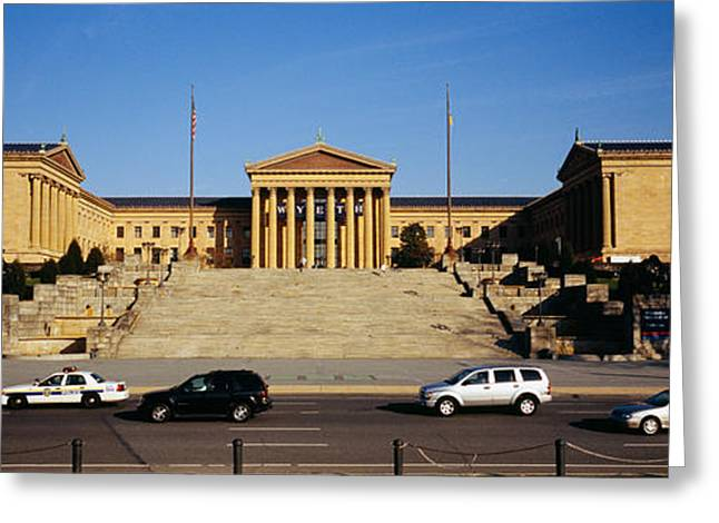 Facade Of An Art Museum, Philadelphia Greeting Card by Panoramic Images