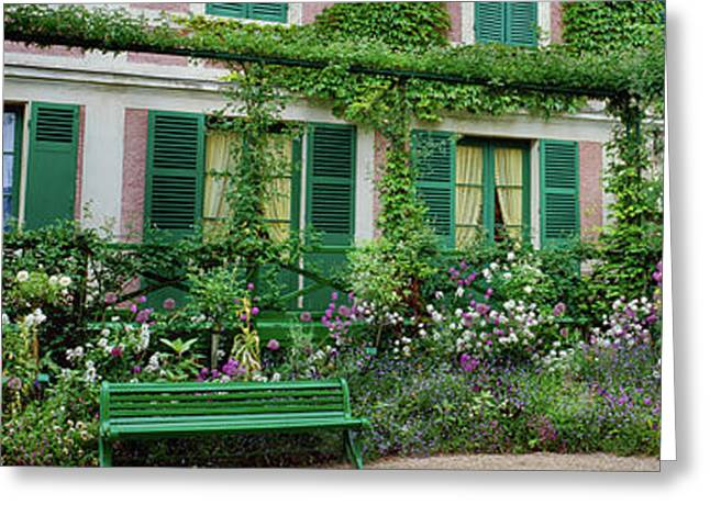Facade Of Claude Monets House, Giverny Greeting Card