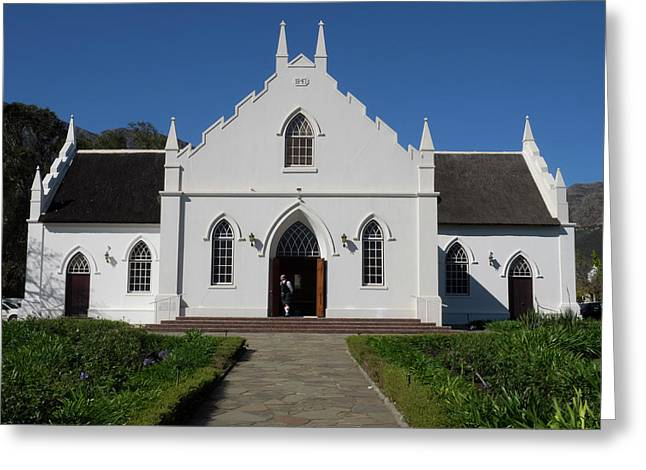 Facade Of Dutch Reformed Church Greeting Card by Panoramic Images