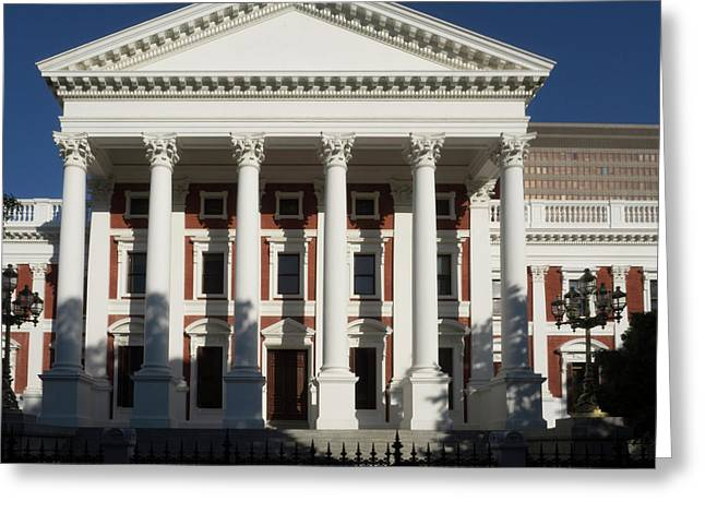Facade Of House Of Assembly Greeting Card by Panoramic Images