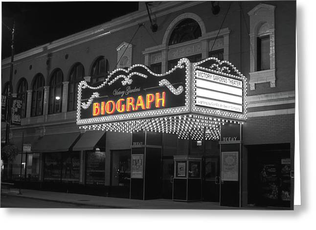 Facade Of The Biograph Theater, Lincoln Greeting Card